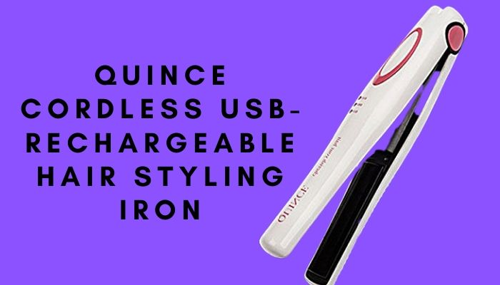 Quince Cordless USB-Rechargeable Hair Styling Iron